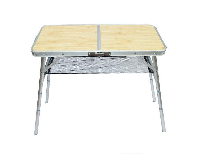 【露營趣】中和 TNR-108 三段高低鋁合金野餐桌 咖啡桌 摺疊桌 休閒桌 蛋捲桌 茶几 小桌 附收納袋置物網