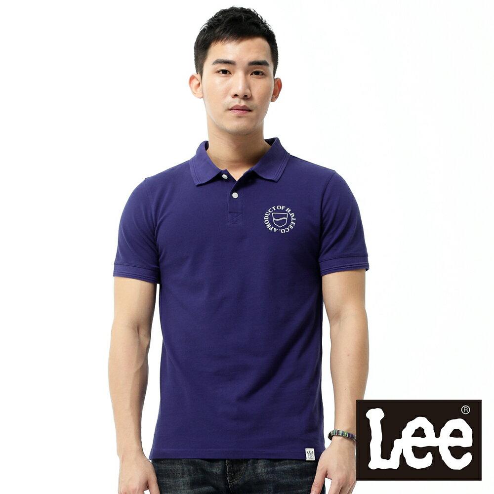 Lee 短袖POLO衫-紫