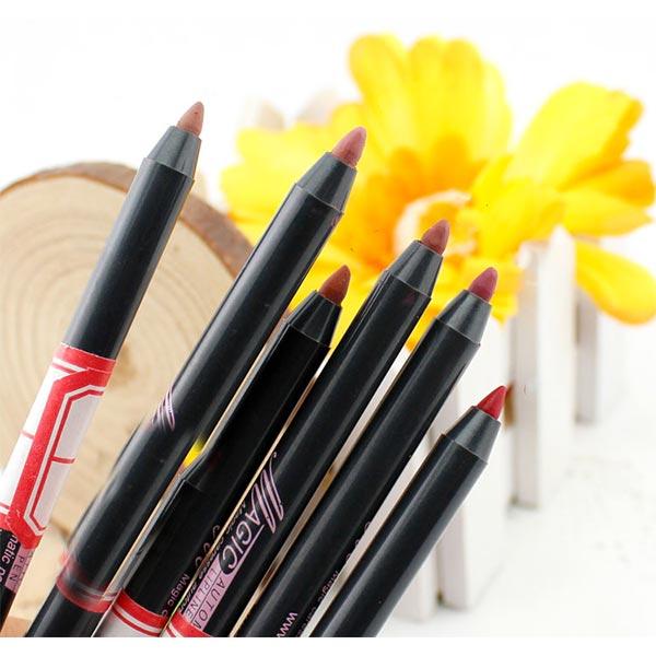 【彩妝師必備】打造完美妝容描繪輪廓.打底專用旋轉唇線筆(附削筆器)-共6色 [48371]