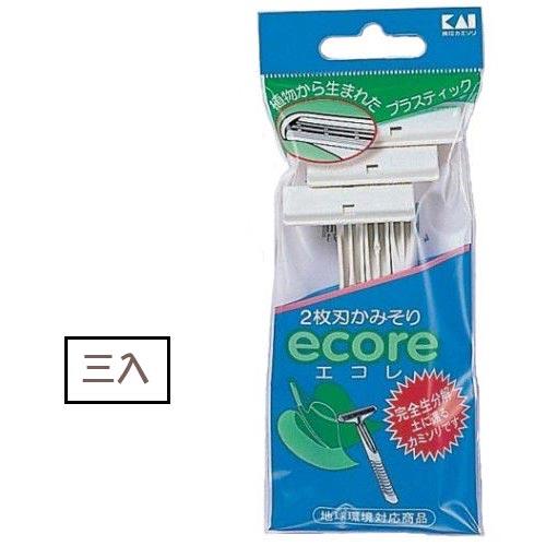 貝印ECO-3P2刀刃環保刮鬍刀3入 [48953]◇美容美髮美甲新秘專業材料◇