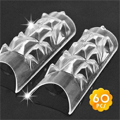 [光撩.水晶指甲]嘉奈兒韓國琉璃水晶指甲膜60片 [18983]◇美容美髮美甲新秘專業材料◇