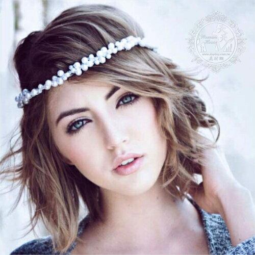 新娘髮飾韓國風珍珠髮帶 [50010]◇美容美髮美甲新秘專業材料◇