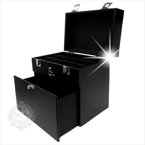 【CP值超高】實用美甲箱.裝首飾項鍊飾品置物箱.小型化妝箱(單入)-質感黑 [51329]