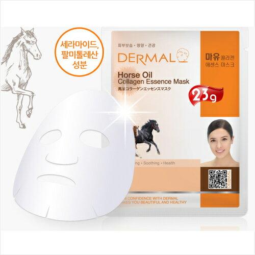 【韓國原裝進口】DERMAL馬油滋養緊實面膜(1入) [51854]便宜又好用