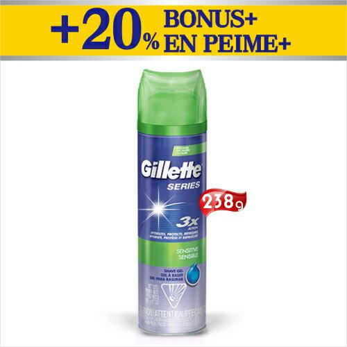 美國Gillette吉列男性紳士刮鬍泡~238g^(加量型^) ^~53266^~