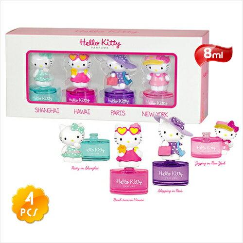 【送禮物】HelloKitty小小空姐香水禮盒(8mLx4入) [53306]花果香調