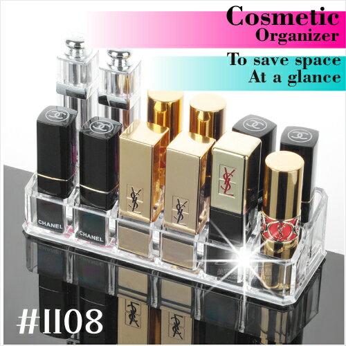飾品保養化妝品壓克力透明收納盒.置物展示架(#1108)-單入 [53680]