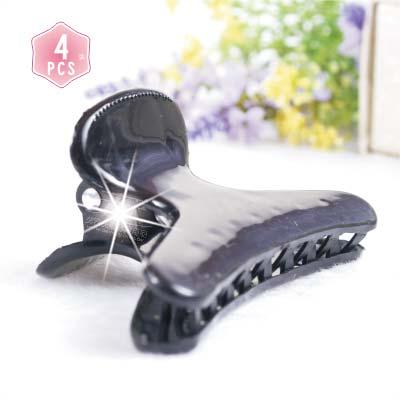 【洗澡.化妝必備小物】D300傳統款鯊魚夾.髮夾.抓夾.固定夾.哈仔夾(4入)-黑色 [38589]