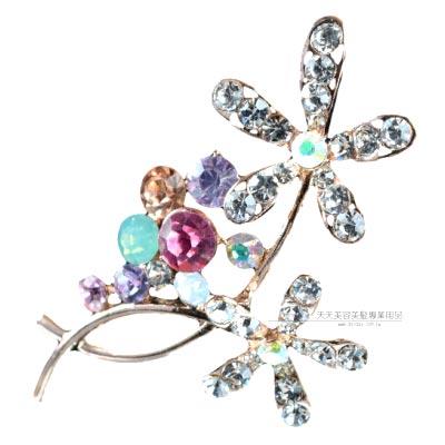 卡娜米娜X01002HC彩鑽造型胸針-小花 [40853] ◇飾品.鑽飾.舞台.新秘◇