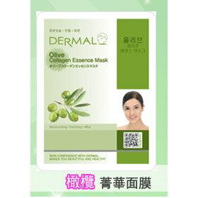 韓國DERMAL 橄欖抗老保濕面膜 1入 [42755] ::WOMAN HOUSE::