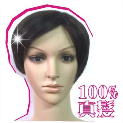嘉奈兒100%全頂人戴真髮152短髮 [45886] ◇美容美髮美甲新秘專業材料◇