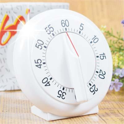 【60分鐘倒數.免裝電池】#204A大圓旋轉式旋鈕定計時器(單入) [46611]