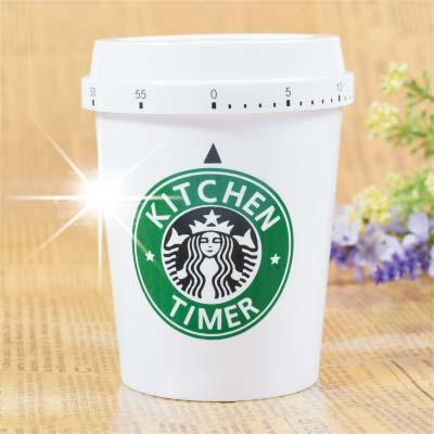 【60分鐘倒數.免裝電池】咖啡杯旋轉式旋鈕定計時器(單入) [46617]