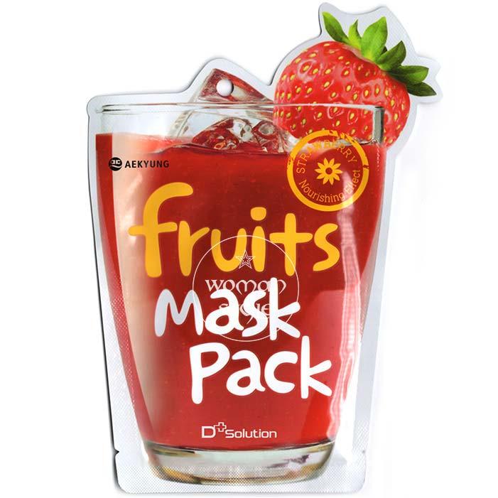 【 產地:韓國】D Solution超juicy果汁面膜-草莓(23ml/包) [47573]
