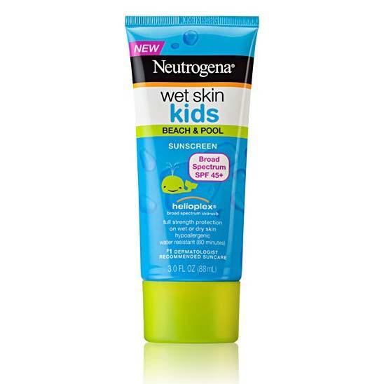 【SPF45+兒童專用溫和配方】露得清Neutrogena水肌因兒童濕膚防曬乳(臉部身體均可)-88ml [48282]