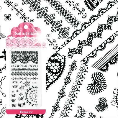 【超細膩花紋】LC系列指甲彩繪緞帶蕾絲貼紙模-黑蕾絲(不挑款) [48320]