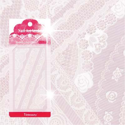 【超細膩花紋】LC系列指甲彩繪緞帶蕾絲貼紙模-白蕾絲(不挑款) [48321]