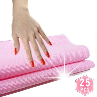 【乾淨衛生】美甲師指甲彩繪個人專屬拋棄式桌巾紙.手枕桌墊(33*46cm)-25張 [48474]