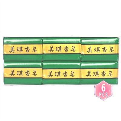 【台灣製造】多年不變的香味~美琪香皂85g*6入(綠) [66196]