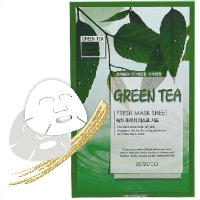 BEBECO 純淨鮮活面膜 12入-綠茶 [88863] ::WOMAN HOUSE::
