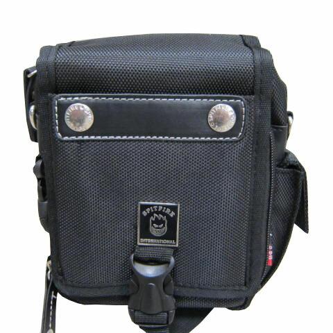 ~雪黛屋~SPITFIRE腰包中容量外掛式腰包三用功能防水尼龍布+皮革材質可外掛可腰包斜側包工具包Q2261