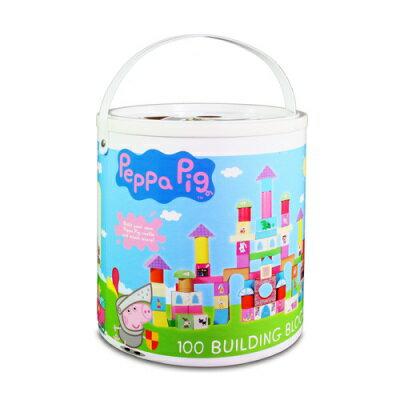 粉紅豬小妹配對圖型桶裝積木組