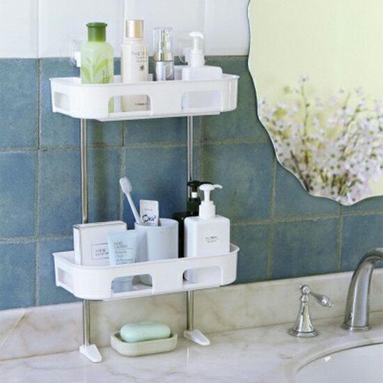 ♚MYCOLOR♚壁掛式多層置物架浴室免打孔洗漱架衛生間置物免釘收納架廚房【P267】