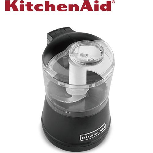 【新品出清】KitchenAid 迷你食物調理機 松露黑 美國百年工藝  3KFC3511TOB