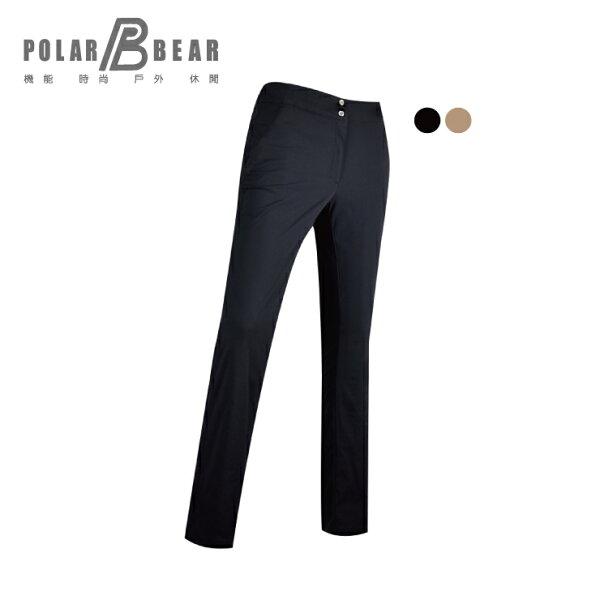 【POLARBEAR】女平面彈性吸快乾排抗UV美型長褲