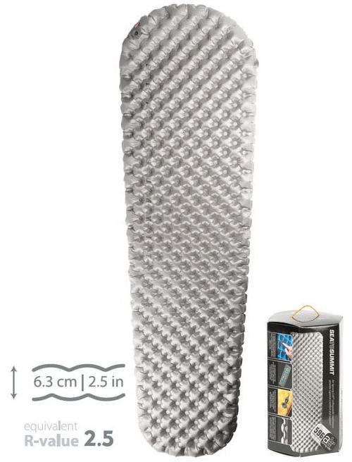 Sea to Summit 舒適獨立氣筒睡墊/登山睡墊 舒適Plus系列-標準版-R 灰(含維修備品) Comfort Plus Mat STAMCPR