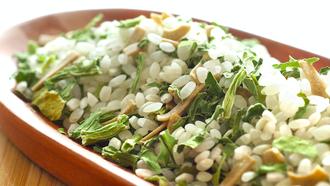 銀川有機菠菜易煮粥240g: 100%有機食材選用,快速方便只要20分鐘,米糠片添加更營養--來自花蓮的米 2