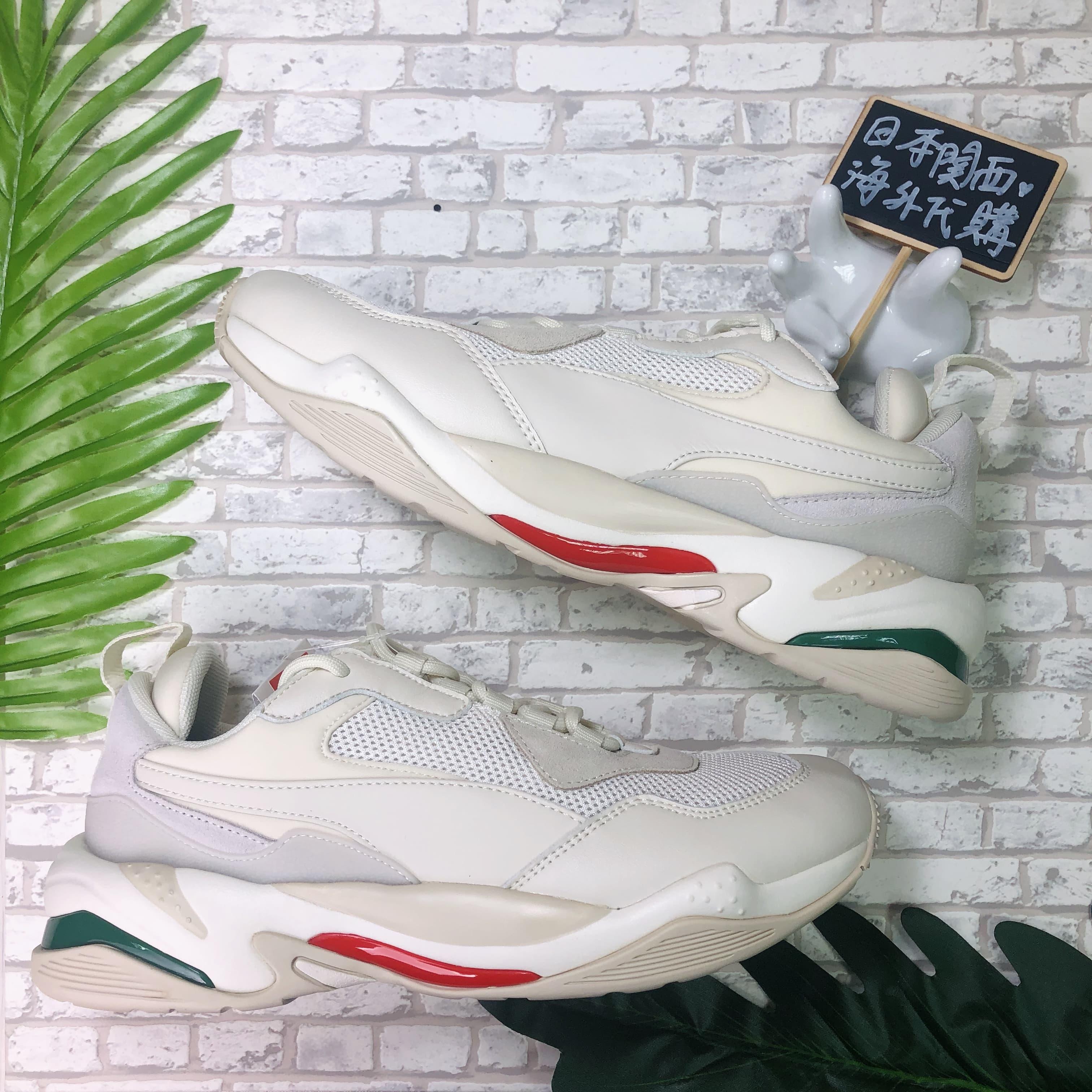 【日本海外代購】Puma Thunder Spectra 白 米白 紅綠 復古 厚底 老爹鞋 泫雅 男女 367516-12