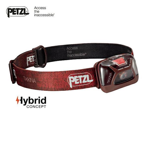 【速捷戶外】PETZL E91ABB紅色 高亮度LED頭燈(150流明)TIKKINA, 登山露營,戶外照明