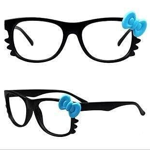 =優生活=((超萌))無度數框架眼鏡 蝴蝶結 貓咪造型眼鏡