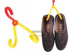 約翰家庭百貨》【SA340】多功能折合式掛勾 一分二掛鉤 曬鞋架 便攜雙勾 隨機出貨