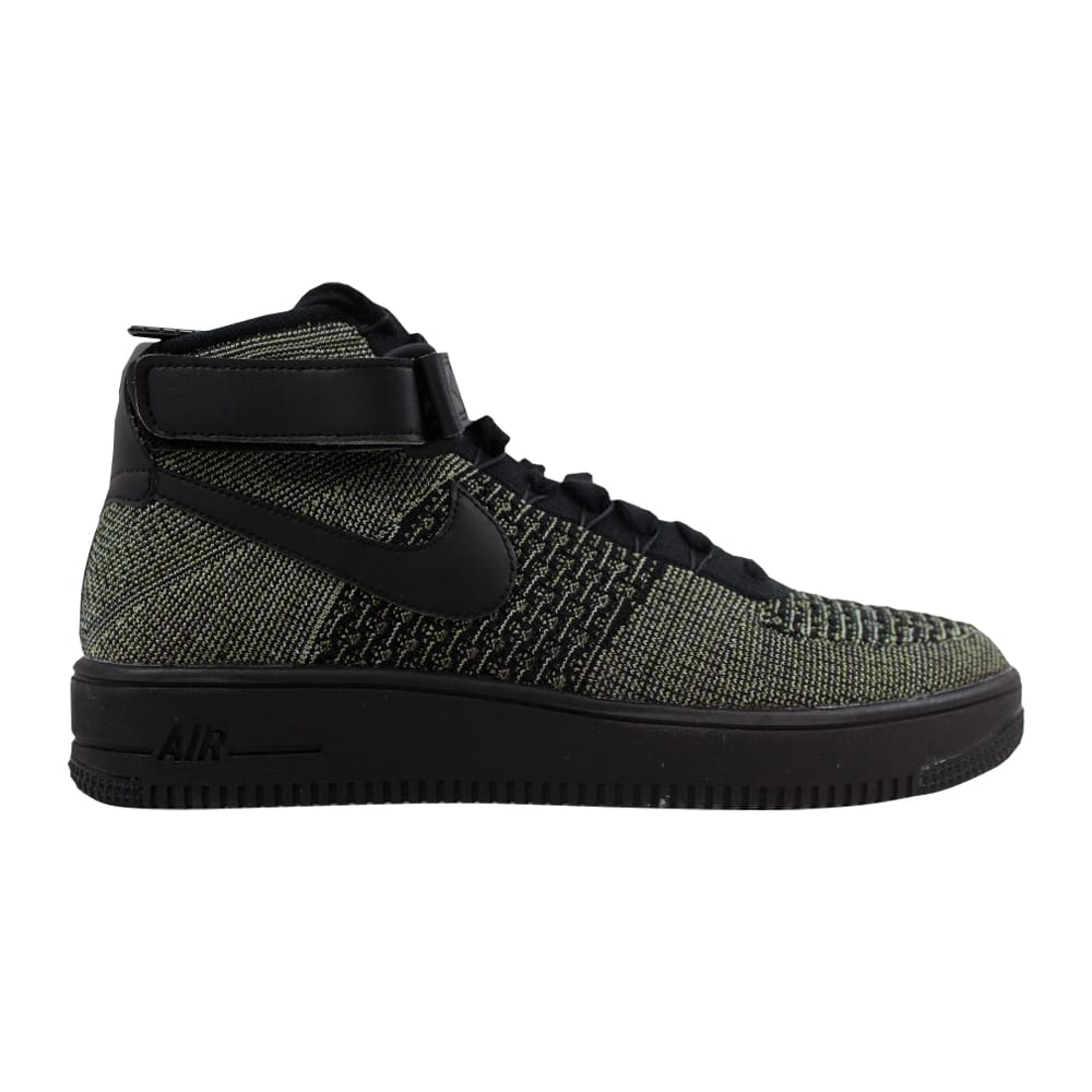 9b53587e2ed17 Kixrx  Nike Air Force 1 Ultra Flyknit Mid Palm Green Black-White ...