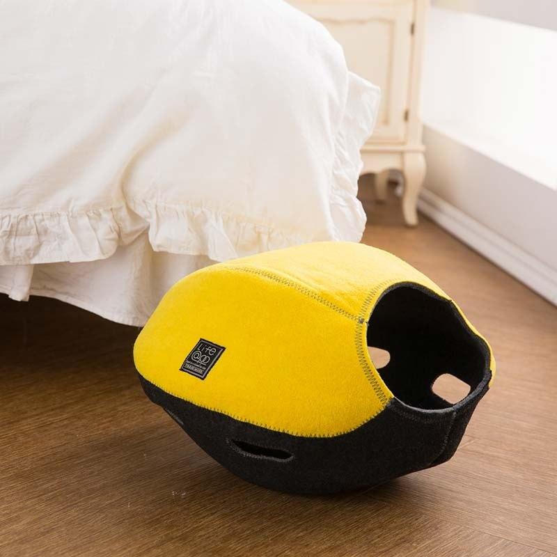 《Lifeapp》 寵愛貓窩 FUN樂版(檸檬黃) 約W44xD48xH32cm