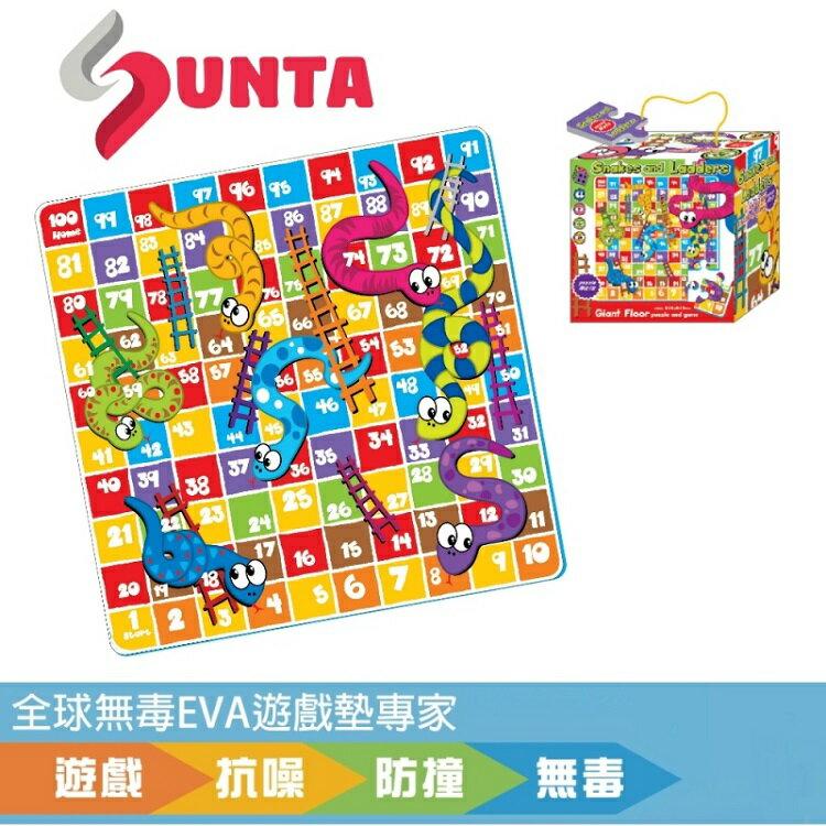 【特價$499】【SUNTA】彩色印圖拼接墊-樓梯蛇棋 (20x20cm)-16片
