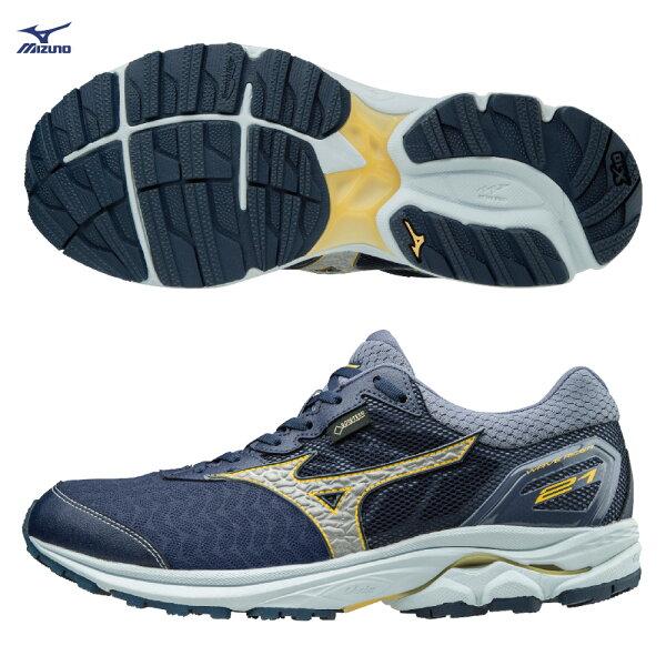 J1GC187403(靛藍X銀灰)最新登場中高足弓適用WAVERIDER21G-TX一般型男慢跑鞋S【美津濃MIZUNO】