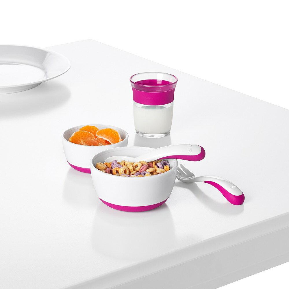 OXO | tot 防滑加蓋大小碗組-莓果粉