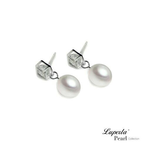 大東山珠寶 經典時尚 天然淡水珍珠純銀耳環 1