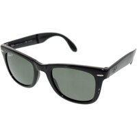 Ray-Ban Men's Polarized Wayfarer Folding RB4105-601/58-50 Black Wayfarer Sunglasses