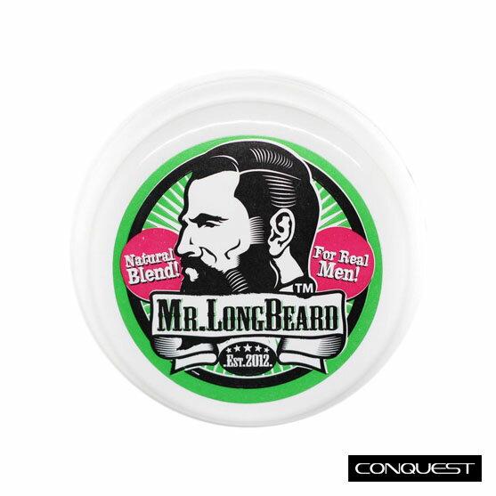【 CONQUEST 】Mr.Longbeard 大鬍膏 育鬍膏 蓄鬍 針對鬍子、鬢角、眉毛 淡雅綠茶奶香