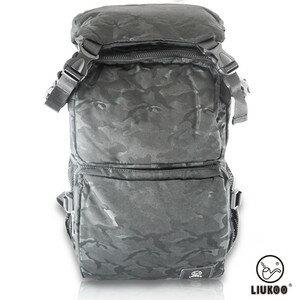 LIUKOO戰地叢林迷彩系列 – 大容量越野 防潑水登山後背包~~神秘黑~