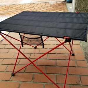 美麗大街【107011502】 高CP值推薦 超輕便鋁合金摺疊桌(布桌面)(大號)