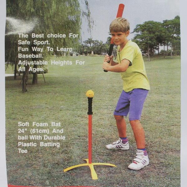 兒童專用 樂樂棒球套裝組 娛樂級(明盒) / 一組入 { 定399 }  樂樂棒球 安全棒球 棒球練習器~群 6
