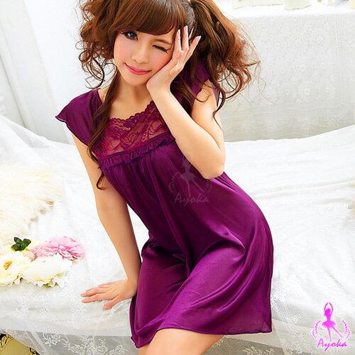 綺麗浪漫!小蓋袖睡襯衣KNA11020025-1 ☆艾莉莎☆