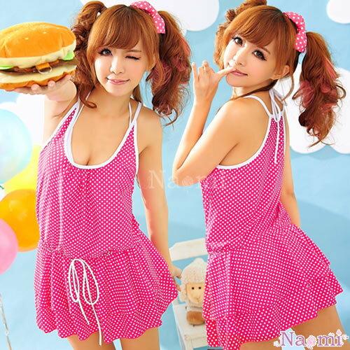 青春無敵!泳裝式外罩連身裙NA13070023-1 ☆艾莉莎☆ 免運