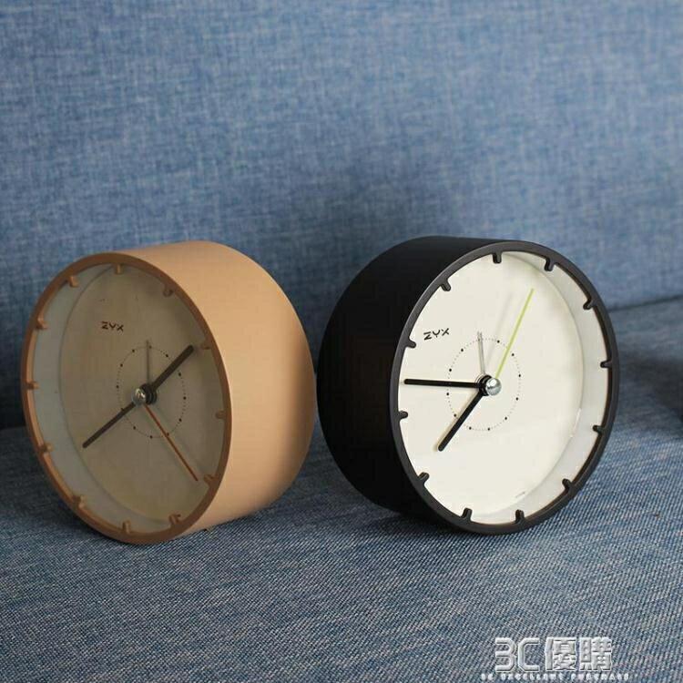 鬧鐘靜音簡約床頭創意北歐風格學生用桌面電子時鐘小擺件臺鐘臥室