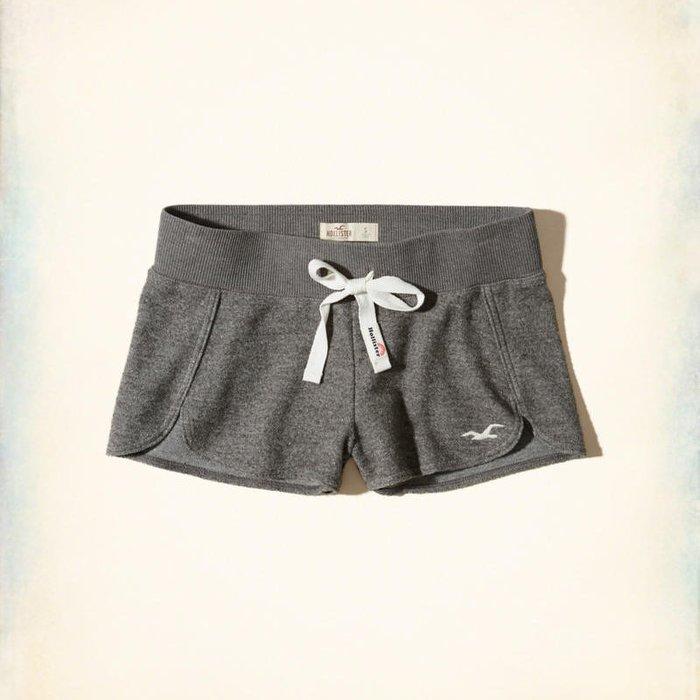 美國百分百【全新真品】Hollister Co. 褲子 HCO 短褲 棉褲 休閒褲 海鷗 鐵灰 女 XS S號 H868